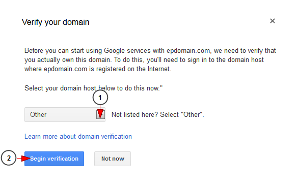 setup your domain with Google apps
