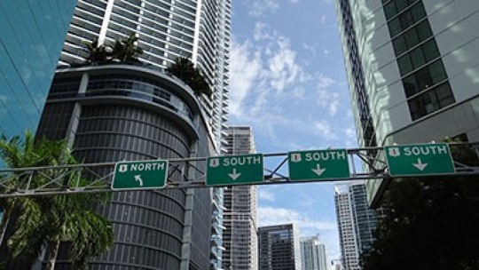 Driving Around Brickell.